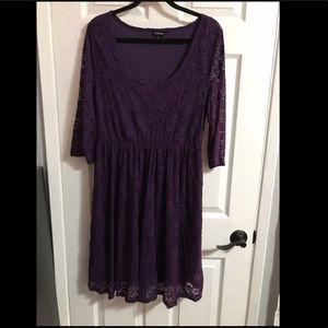 Torrid Purple Lace Dress